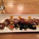 seared scallops and rissoto