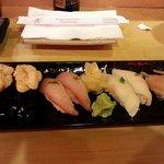 Scallops, tuna, white tuna, halibut