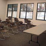 One of two meeting rooms available for parties, meetings and events