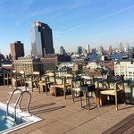Pool at the rooftop in the end of October.