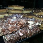 Homemade..yes our very own HOMEMADE traybakes. Rocky roads, Carmel squares and wait for it..PEAN