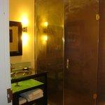 steam shower in standard room