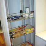 Loved the pull out IKEA style upboard in kitchen