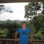 balcon de la cabaña