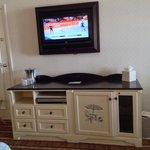 TV refrigerator area