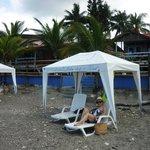 Descansando en una playa tranquila