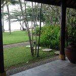 Sitting on the verandah