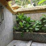 Outdoor bathroom view