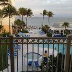 Pool & ocean view from room