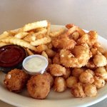 Fried Shrimp and Scallop combo