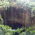 swimming at the cenote