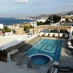 The swimming pool at Damianos Mykonos