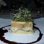 Smoked eel, foie gras and apple mille feuille - don't knock it! It was fabulous!