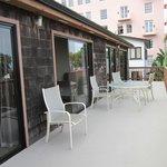 Large patio deck