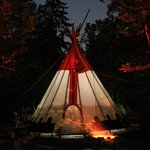 Teepee by night