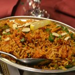 Chicken biryani (under rice specialties)