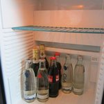 mini bar and fridge