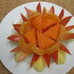 Special breakfast fruit platter