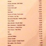Reasonable pricing at minibar. :-)