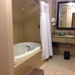 Lovely bath with large jetted tub in Suite