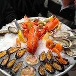 fruits de mer avec langouste 72 euros pour deux