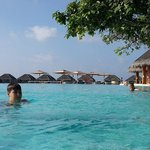 The biggest swimming pool  of the Maldives.
