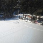 Vista aérea del lodge