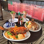 Whole red snapper 2 ways