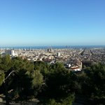 View of Barna from Guell Park