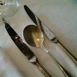 damaged cutlery at Sabbath buffet dinner