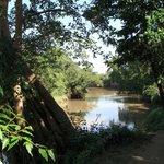 Floden hvor teltene lå helt ned til