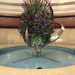 beautifully setup flowers in lobby
