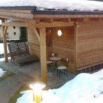 sauna finlandese all'aperto