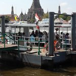 Ferry pier to the Wat