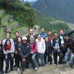 Llegando a Machu Picchu!