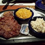 My Delmonico steak with slaw and corn. All very good.