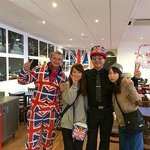 Don't be afraid to ask our Manager and Union Jack Man for a photo