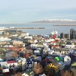 View from the top of the church in Reykjavik