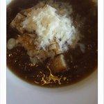 Onion soup, sour dough croutons & parmezan.