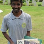 The devoted gardener who,like his father and grandfather, keeps the cemetery in immaculate condi