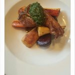 'Beets by jonty' honey roast parsnip,  carrots & beetroot. Lamb cbop5 & sause viergé.