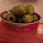 Gordal olives, olive oil and salt. Beautiful!