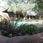 Swimming pool and main camp
