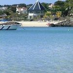 Blick auf Hotel von Flic en Flac Strand aus