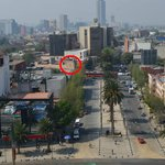Red circle is hotel as seen from The Revolution Monument.