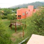 Vista desde cabaña Guadalajara a los juegos de niños