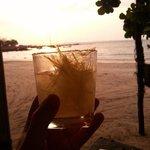 Lemongrass margarita whilst watching the sun go down
