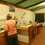 Kitchen & living areas of farm casita