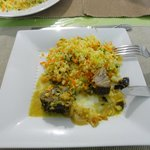 Riso e curry di pesce