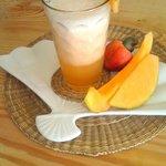 refrescante espuma de melon